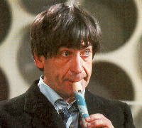 The Second Doctor with his recorder